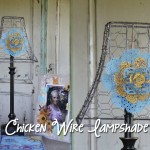 Let's decorate for fall! Make a chicken wire lampshade video + 50 other fall decorating ideas