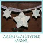 Quick and Easy Air dry clay stamped banner – Great for Kids!