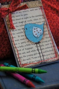 craft idea_mini_bird Journal