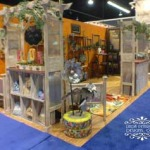 Upcycled Eclectic Garden Patio Booth Design CHA 2015
