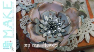 upcycled craft - soda can flowers