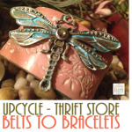 Upcycle Thrift Store Belts to Bracelets – 4 Easy Steps