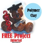 Polymer Clay Free Project Graduation Bear Tutorial