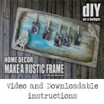 DIY Shabby Chic Decor Memory Frame with Proxxon