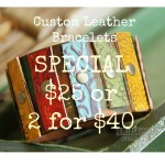 Custom Leather Bracelet Cuffs – Special 2 for $40
